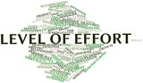 Word cloud for Level of Effort poster