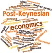 Word cloud for Post-Keynesian economics