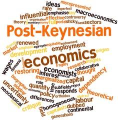 Word cloud for Post-Keynesian economics