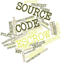 Word cloud for Source code escrow