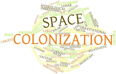 Word cloud for Space colonization