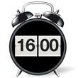 Wecker retro - Uhrzeit 16:00