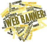 Word cloud for Web banner
