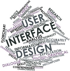 Word cloud for User interface design