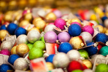 sale of xmas baubles