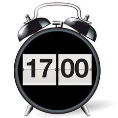 Wecker retro - Uhrzeit 17:00