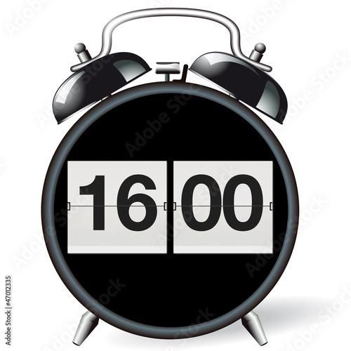 Wecker retro - Uhrzeit 16:00 - 47012335