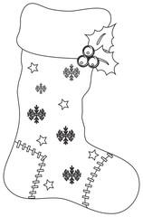 calza disegnata da colorare