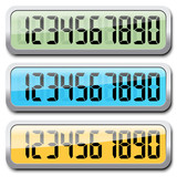 Set of digital numbers