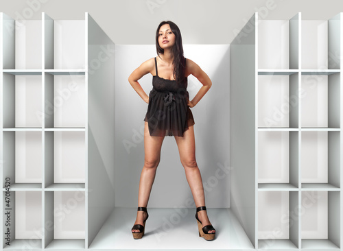 woman in fitting-room l