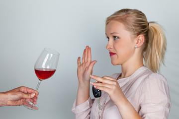 Autofahrerin verweigert Alkohol