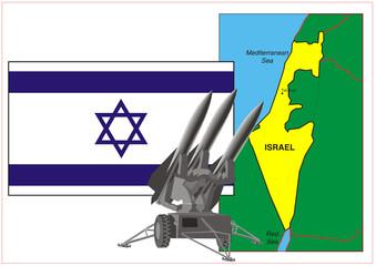 Raketen in Richtung Israel
