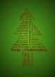 Tagcloud Weihnachtsbaum - Frohe Weihnachten