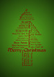 Merry Christmas Tagcloud Tree
