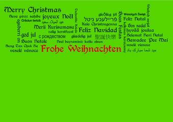 Frohe Weinachten Grüße banner tagcloud