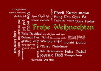 Stichwortwolke Frohe Weihnachten