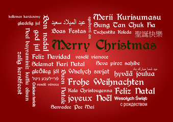 Merry Christmas tagcloud