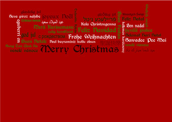 Merry Christmas Basser Tagcloud