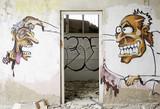 Fototapete Verlassenes gebäude - Leerstehend - Graffiti