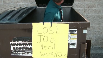 Businessman Lost Job in Dumpster Diving for Food