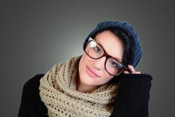 la ragazza con gli occhiali