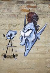 Hypnotist graffiti