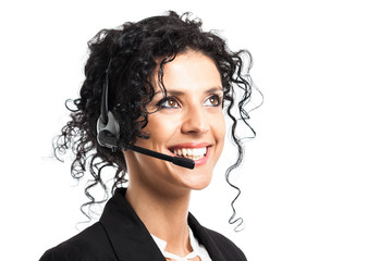 Smiling customer representative portrait