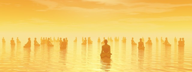 Meditation for all - 3D render