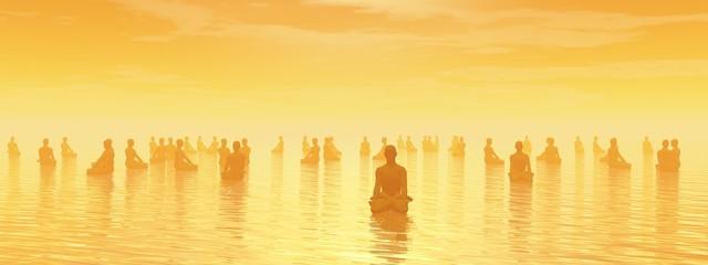 Meditation for all - 3D render