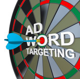 Ad Targeting Word on Dartboard Dart Words