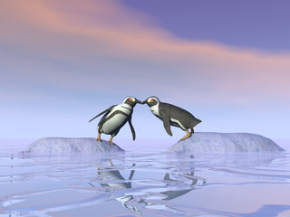 Impossible kiss - 3D render