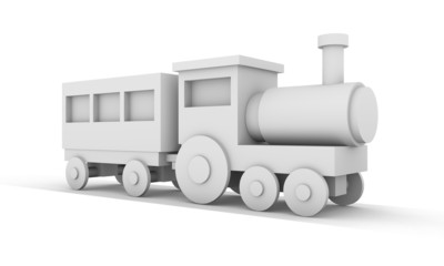 toy locomotive train 3d