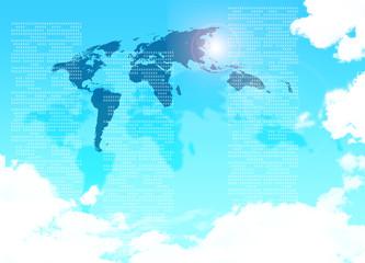 世界地図のイメージ素材
