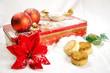 Christmas balls with sweet and gift box