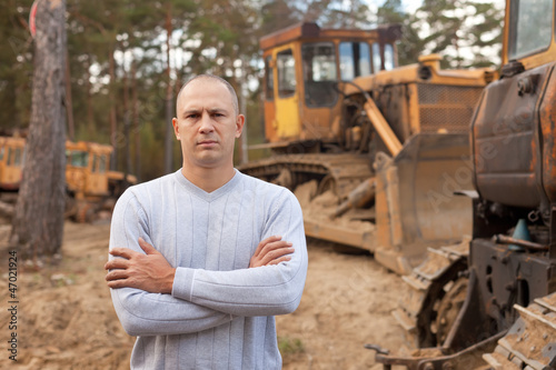 tractor operator at workplace