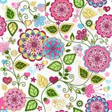 Fototapety Seamless valentine colorful pattern
