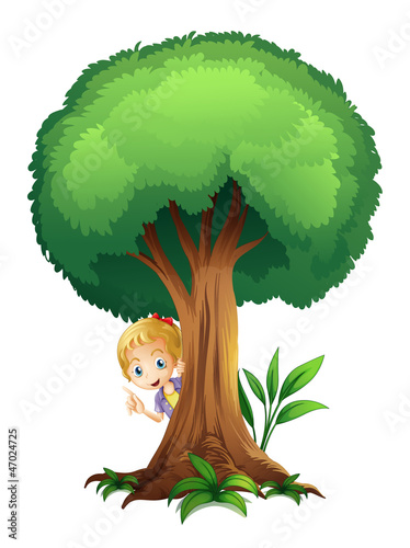 a girl and a tree