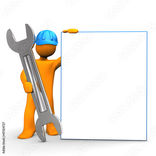 Industrial Worker Signboard