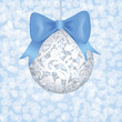 lace bauble and blue bow