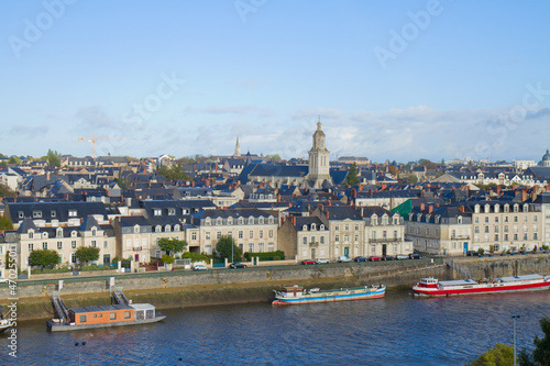 panoramic view of Angers, France