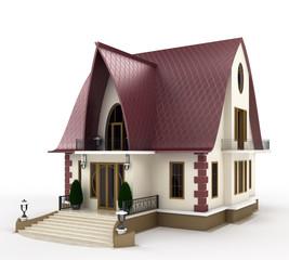 facade of family house model