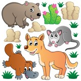 Australian wildlife fauna set 1