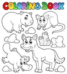 Coloring book Australian fauna 1