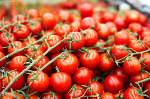 Heap of cherry tomato in supermarket