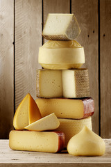 assorted artisan spanish cheeses