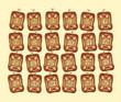Adventkalender aus Lebkuchen Plätzchen