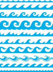 seamless ocean wave set