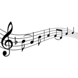 Fototapety Musiknoten mit Textfreiraum