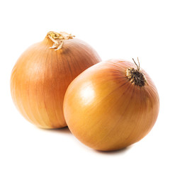 Onion bulbs isolated