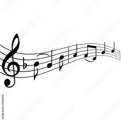 Musiknoten mit Textfreiraum